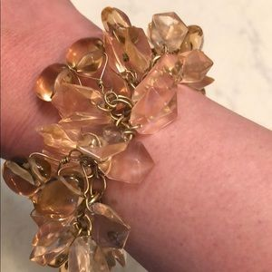 J. Crew Jewelry - J Crew bracelet with pink + peach gems 💎